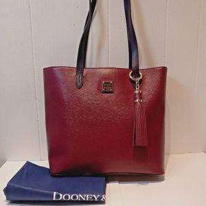 NWT Dooney&Bourke HADLEY TOTE -Cranberry w/Purple